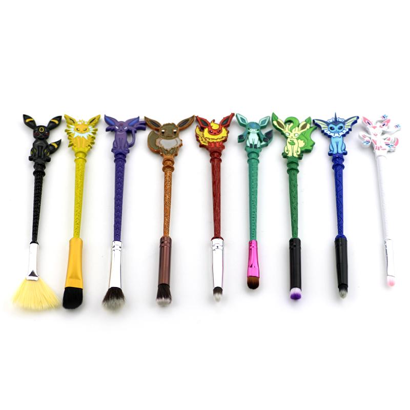 Eevee Evolutions Inspired Makeup Brush Set 9pcs Onyx Bunny