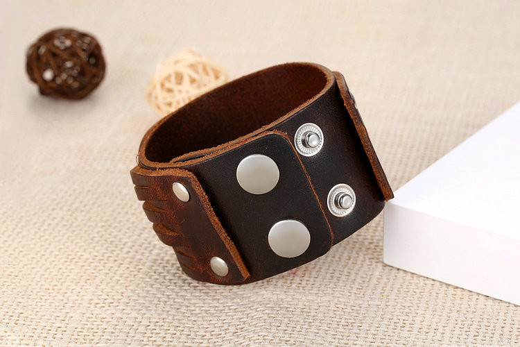 Warrior Cuff Leather Bracelet For Men And Women Secy Celebrity Famous3