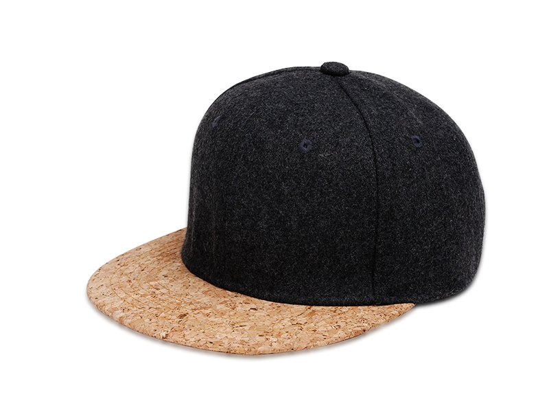Cork and Wool Snapback Hat Cap  e025a01d2ee3