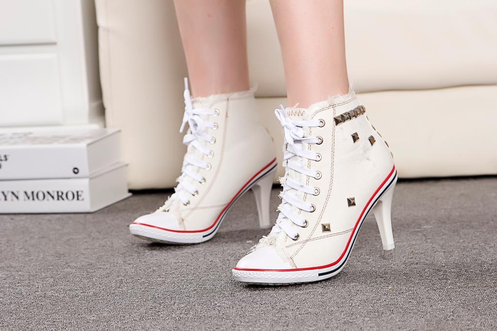 Denim Sneaker Heels | Onyx Bunny