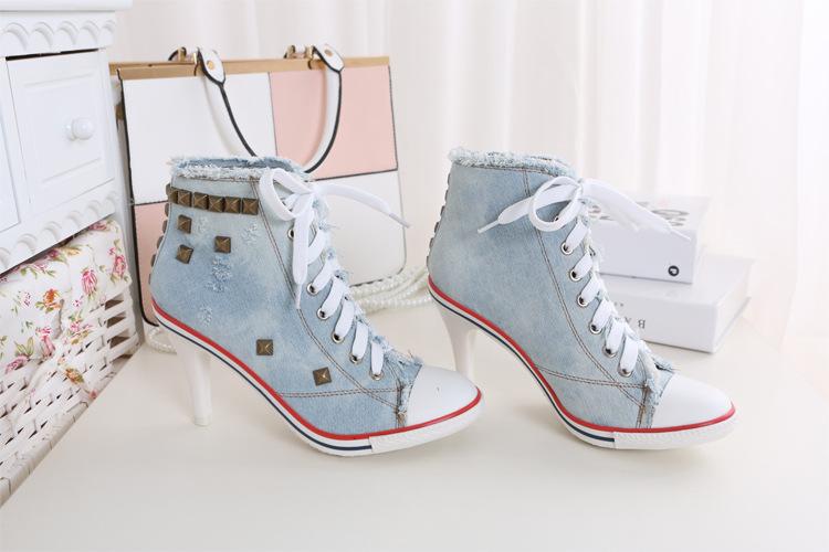 Denim sneaker heels onyx bunny denim sneaker heels22 negle Images