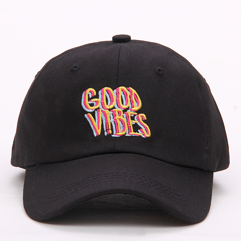 f235bacd7db good vibes hat 2017 new men women Good Vibes Dad Hat Embroidered Baseball  Cap Curved Bill