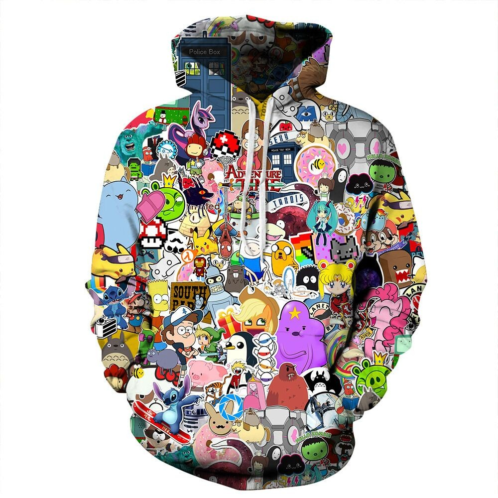 Cartoon Clash Hoodie