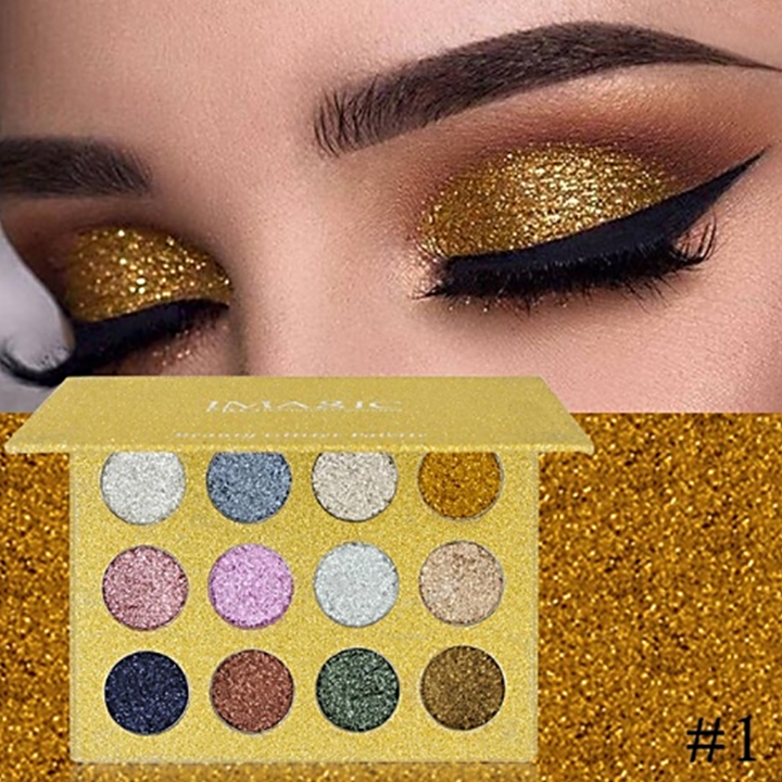 Precious Stones Beauty Glitter Pressed Eyeshadow Palette