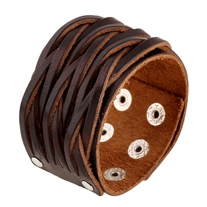 Leather Cuff Bracelets Men 16
