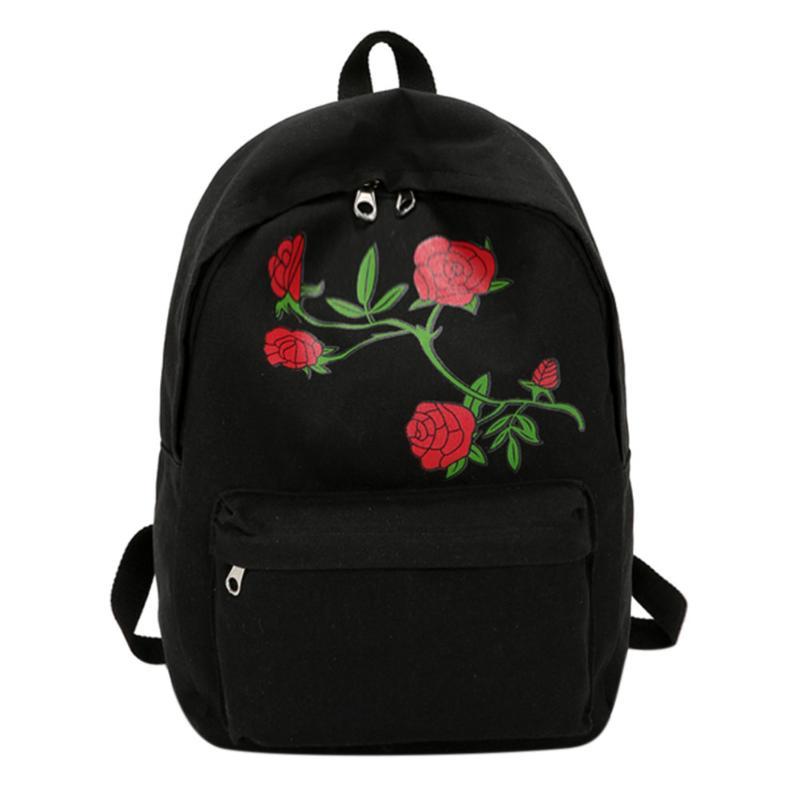 Rose Vine Aesthetic Backpack Onyx Bunny