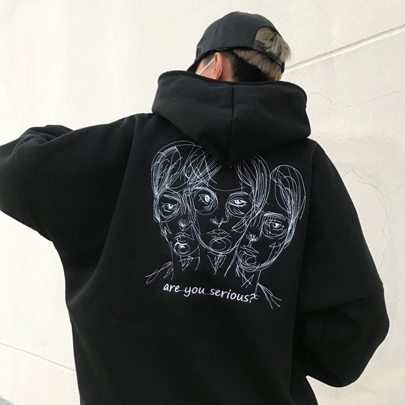 95257e812 Are You Serious? Hoodie - Onyx Bunny