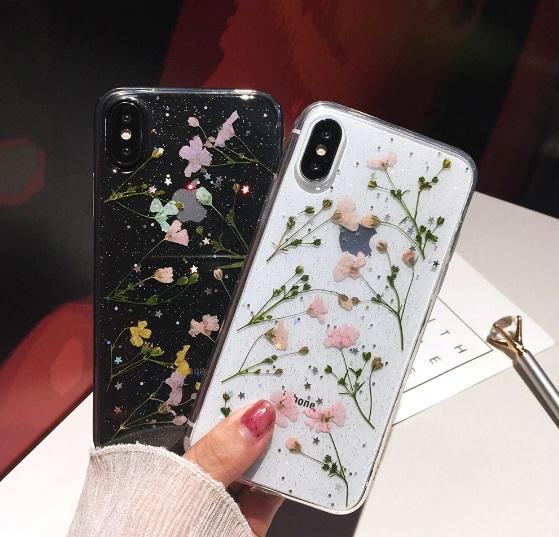 size 40 95b2d 116fb Secret Garden Real Dried Flowers iPhone Case