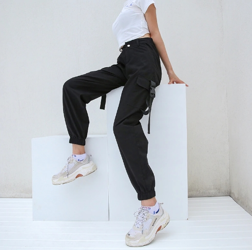 online sale select for clearance how to get Cargo High Waisted Buckle Pants